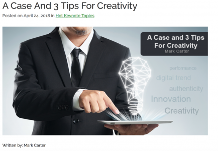 Blog Featured by Great Expectations: A Case For Creativity – 3 Tips For Creativity And Innovation