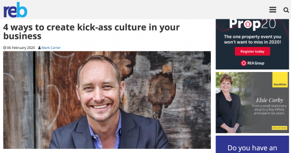How To Create A Kick Ass Culture: Feb 2020 edition of Real Estate Business
