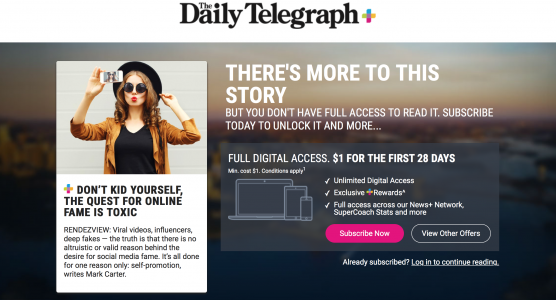 The Quest For Online Fame Is Toxic: March 2020 contribution for RENDEZVIEW, News Corp