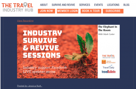 Revive and survive inaugural session: In collaboration with THE TRAVEL INDUSTRY HUB