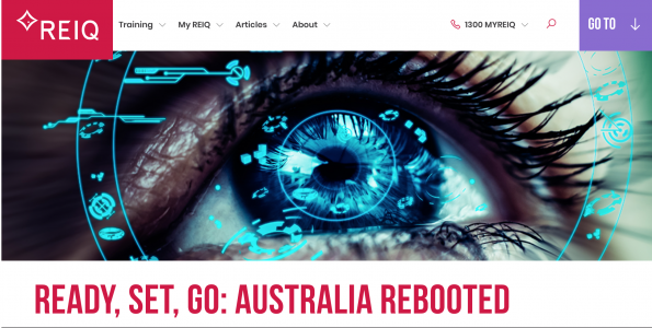 Ready, Set, Go: Australia Rebooted! Insights shared with Nicola McDougall for her piece with REIQ