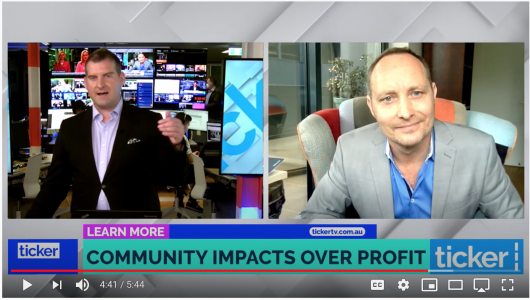 TICKER TV: Why business leaders are looking at community impact over profits