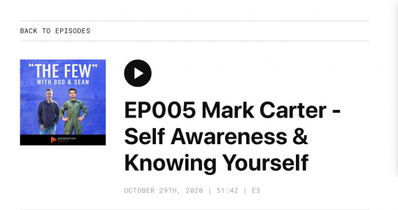 The Few Podcast: Episode 5 – Mark Carter, Knowing Yourself