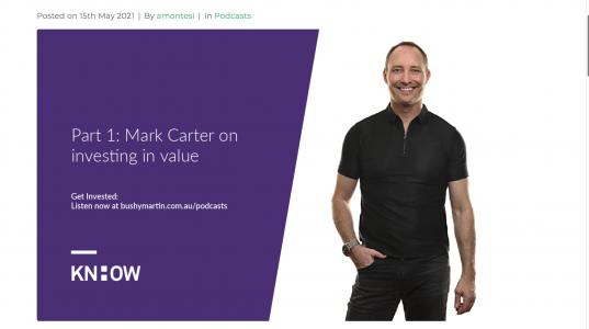 Get Invested Podcast with Bushy Martin: Investing In Value Part 1